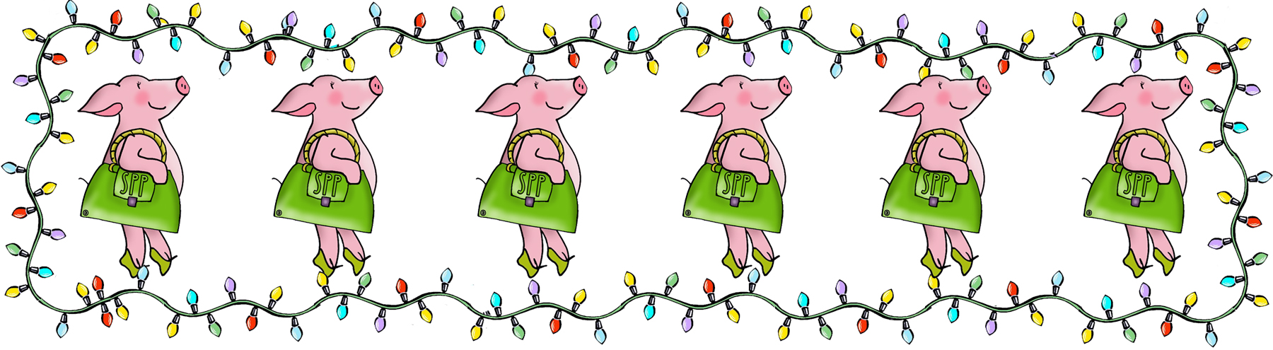 Christmas Logo pig lineup