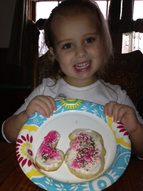 Ellee finished her cookies